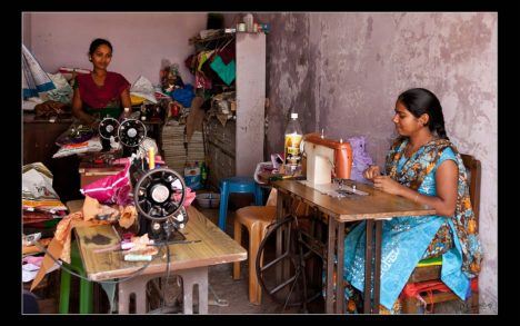 Indian girls working