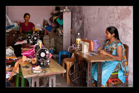 Indian girls working