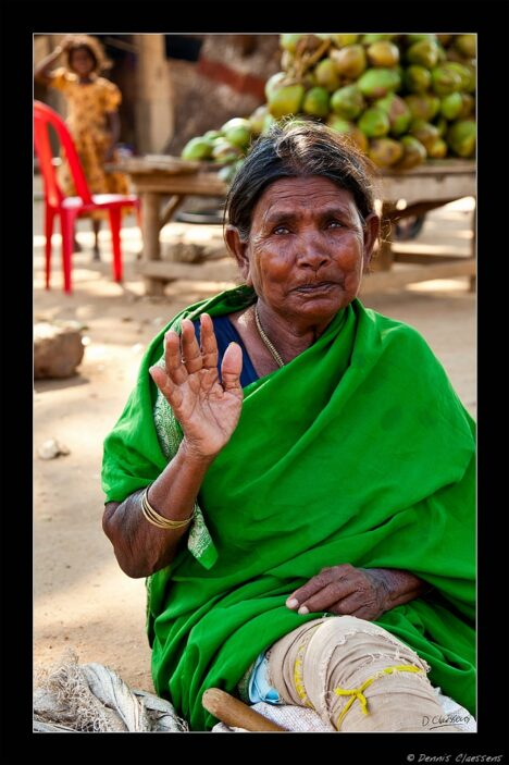 Indian woman in green