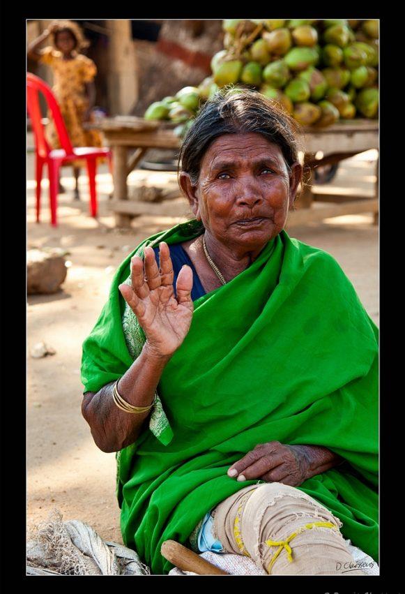 Indian woman in green