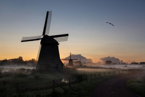 sunrise windmill