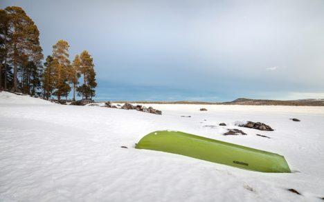 Lapland boot sneeuw winter snow