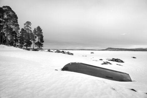 Lapland boot sneeuw winter