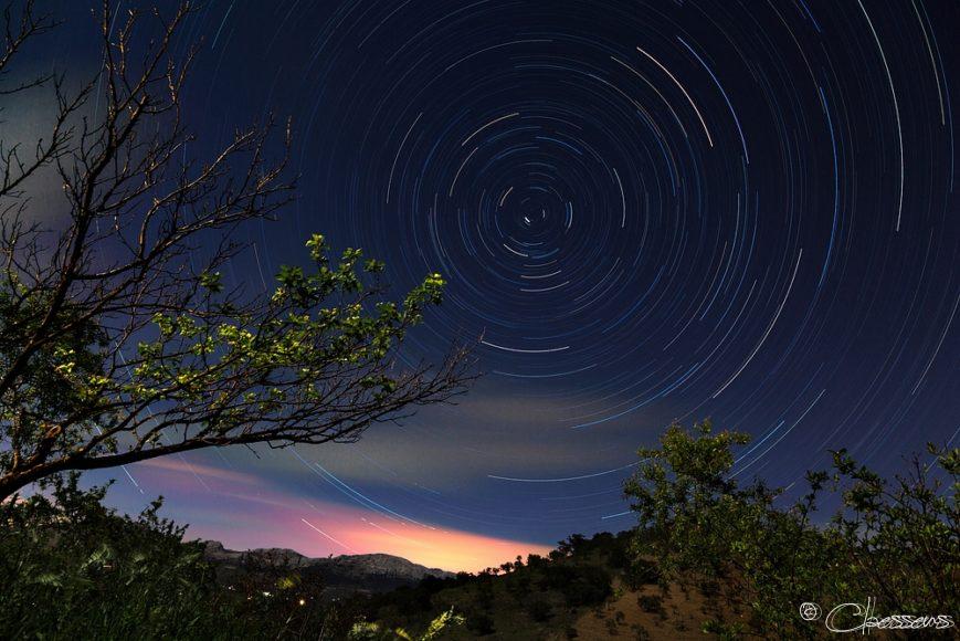 Night stars in Spain
