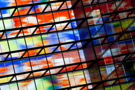 colorful glass windows