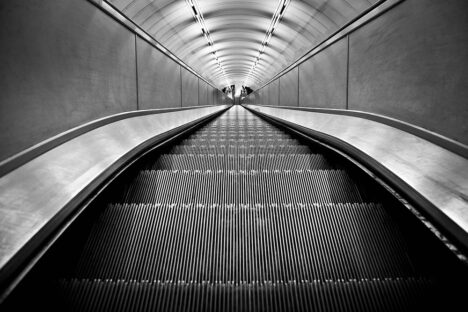 London escalator