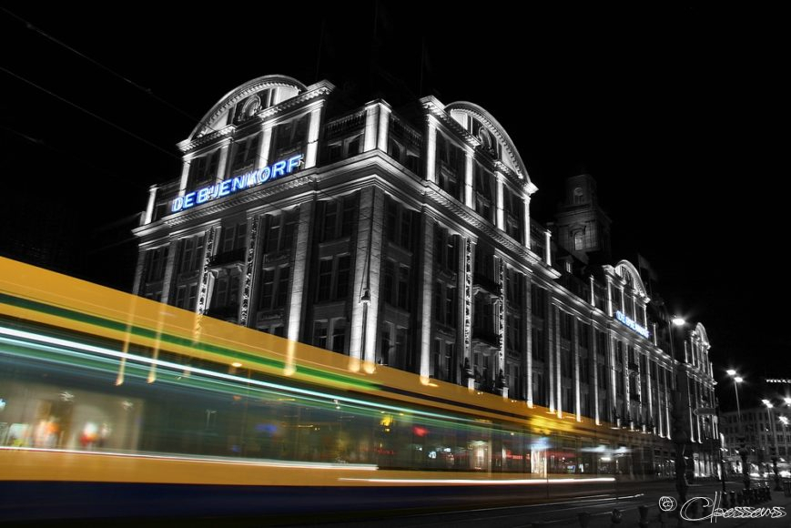Night Tram Amsterdam