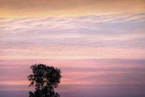 Dutch sunset sky