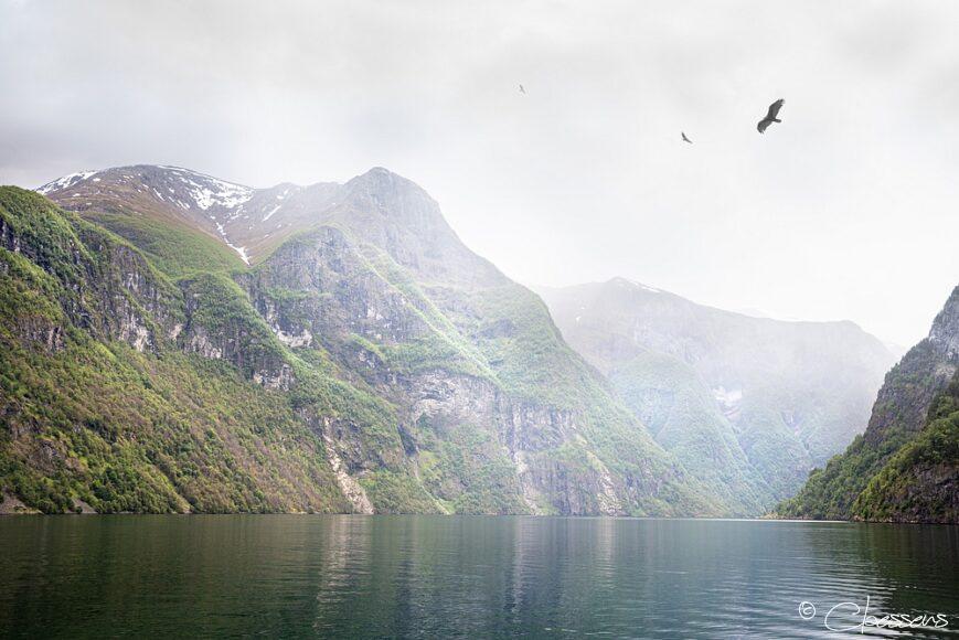 Mountains in Nærøyfjord, Norway