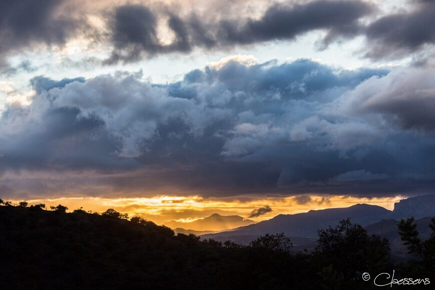 Mountains Clouds Sunset